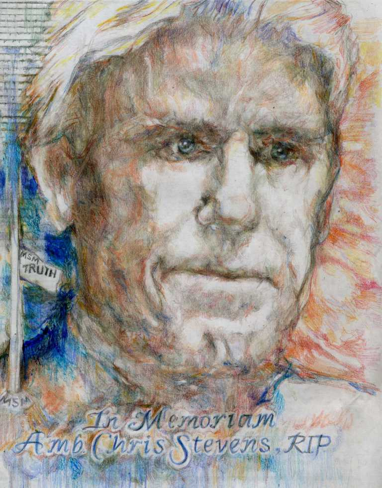 """""""In Memoriam, Ambassador Chris Stevens"""" Artist: Katherine Trunk"""