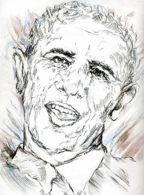 """World on a String"" is an illustration created by artist Katherine Trunk. The world  is at a tipping point, the economy is on the brink of collapse, yet newly re-elected President Obama  and his self confidence know no bounds."