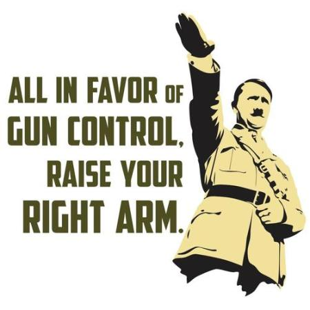 all in favor of gun control