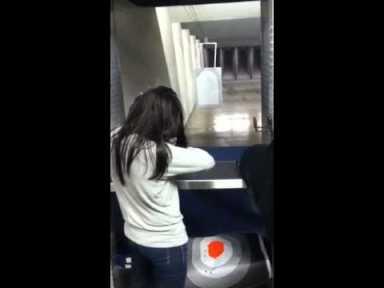 Dana Loesch at a gun range.