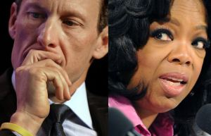 Lance Armstrong, left, and Oprah Winfrey. (TIMOTHY A. CLARY,TORSTEN BLACKWOOD/AFP/Getty Images)