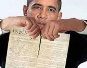 Obama ripping constitution