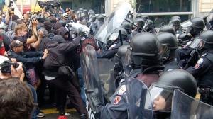 black bloc police