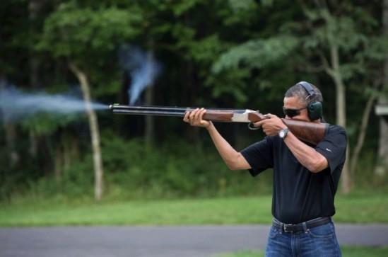 obama skeet shooting