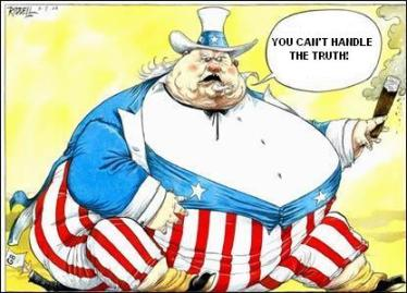 uncle sam fat can't handle the truth